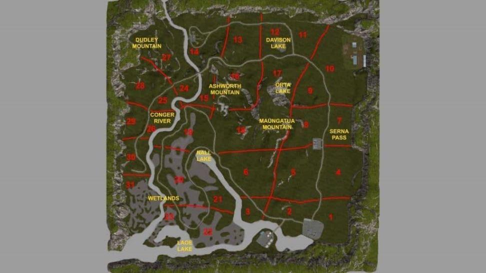 Мод Карта Pacific Inlet Logging v13.1 для Farming Simulator 2017
