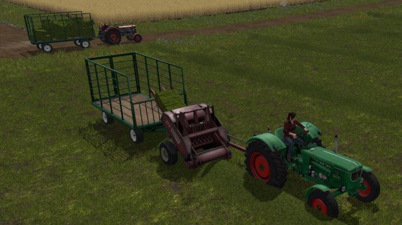 Мод Classic Bale Wagon v 1.0 для Farming Simulator 2017