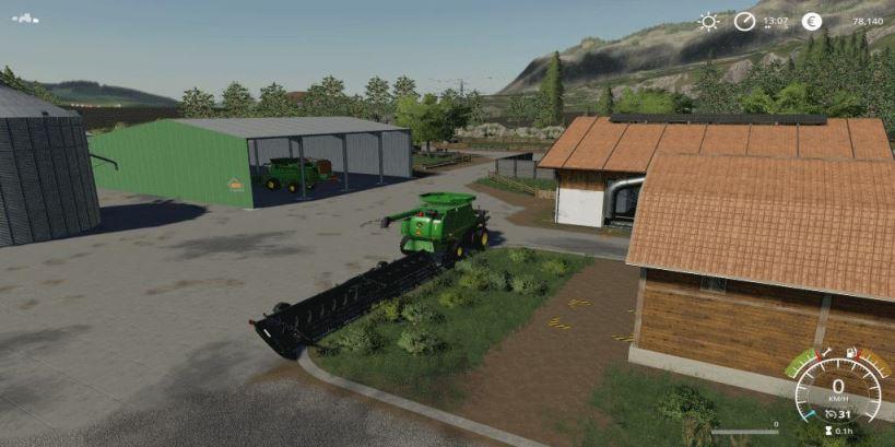 Мод Карта Landfields v 1.0 для Farming Simulator 2019