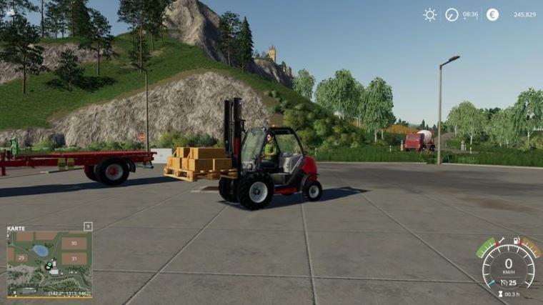 Мод Европалет с ремнями v 1.1 для Farming Simulator 2019