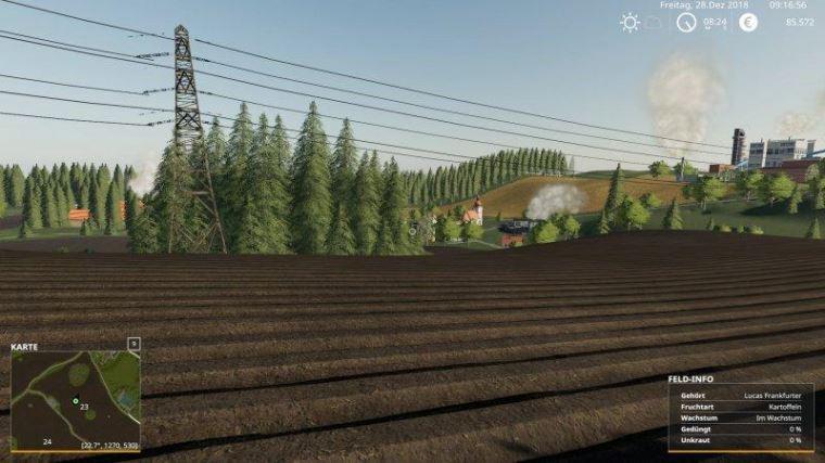Мод Карта Thuringer Oberland v 1.3 Beta для Farming Simulator 2019