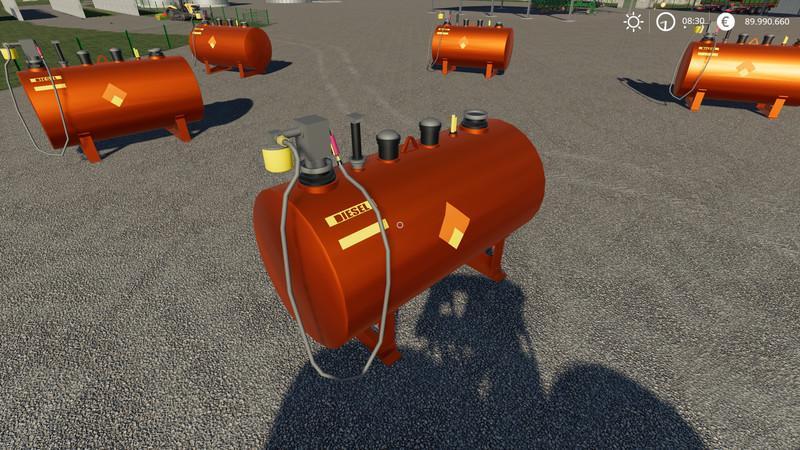 Мод Заправочная станция (АЗС) v 2.0.1.9 для Farming Simulator 2019