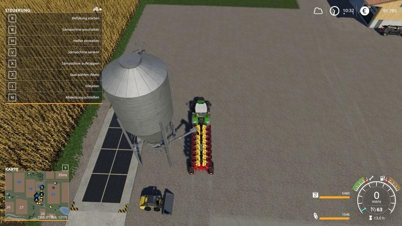 Мод Vaderstad Tempo L16SF (SiloFill) v 1.0 для Farming Simulator 2019
