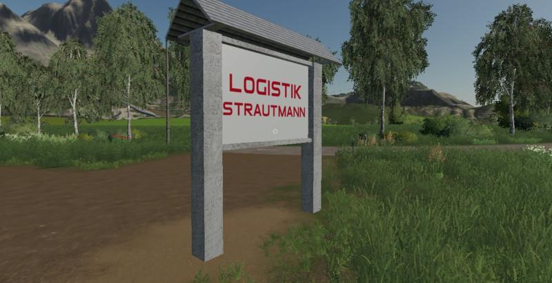 Мод Logistics Strautmann - Company shield v 1.0 для Farming Simulator 2019