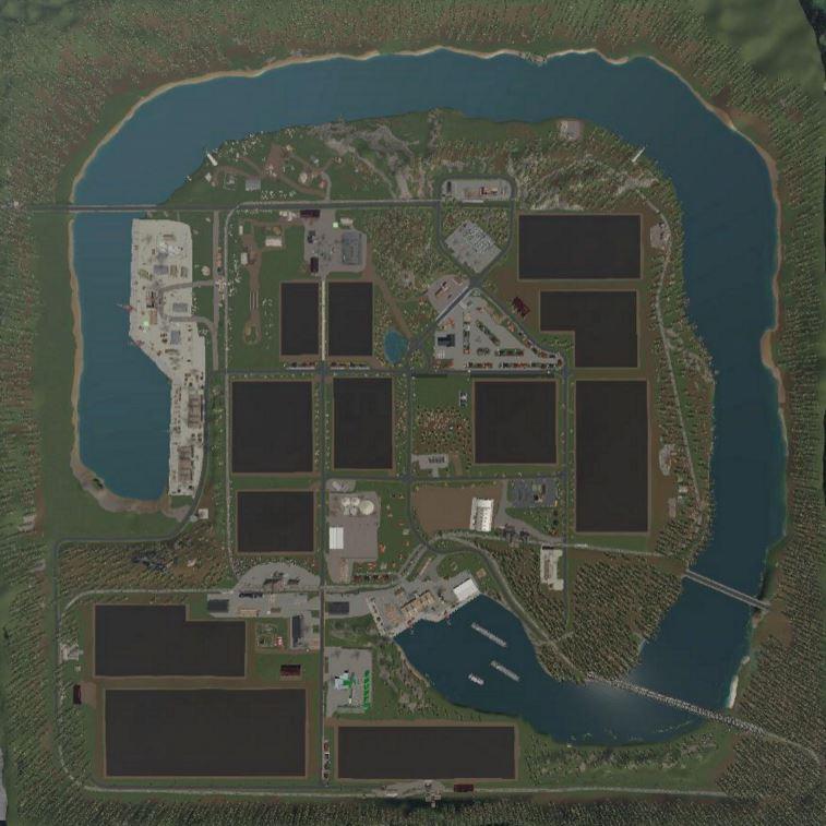 Мод Карта Agricultural peninsula v 1.7 для Farming Simulator 2019