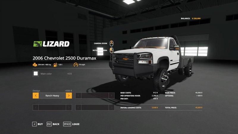 Мод Chevy Silverado 3500 Duramax v 1.0 для Farming Simulator 2019