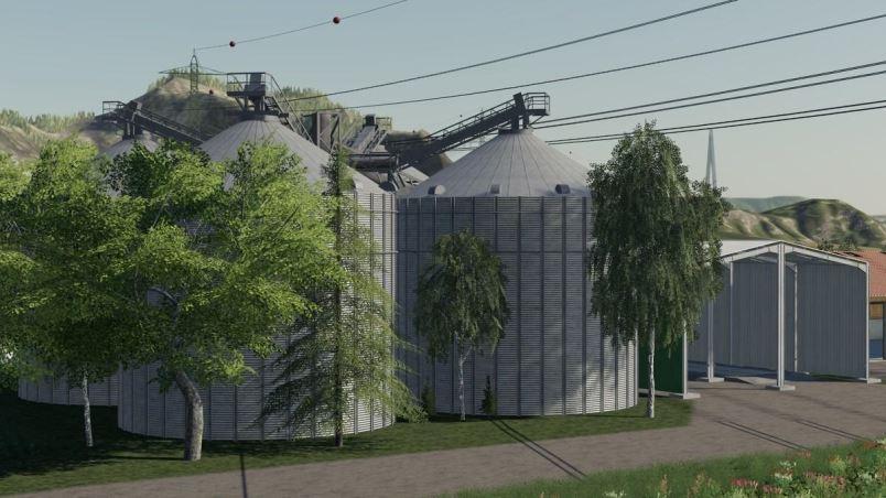 Мод Large silo facility v 1.3 для Farming Simulator 2019