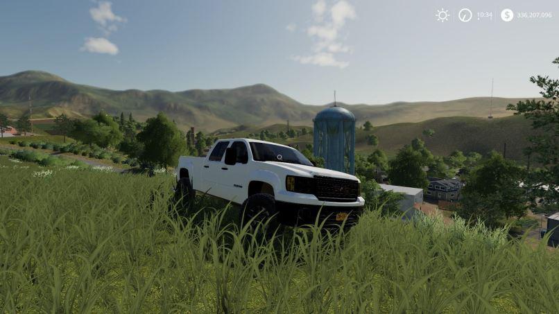 Мод GMC Sierra 2500HD v 1.1 для Farming Simulator 2019