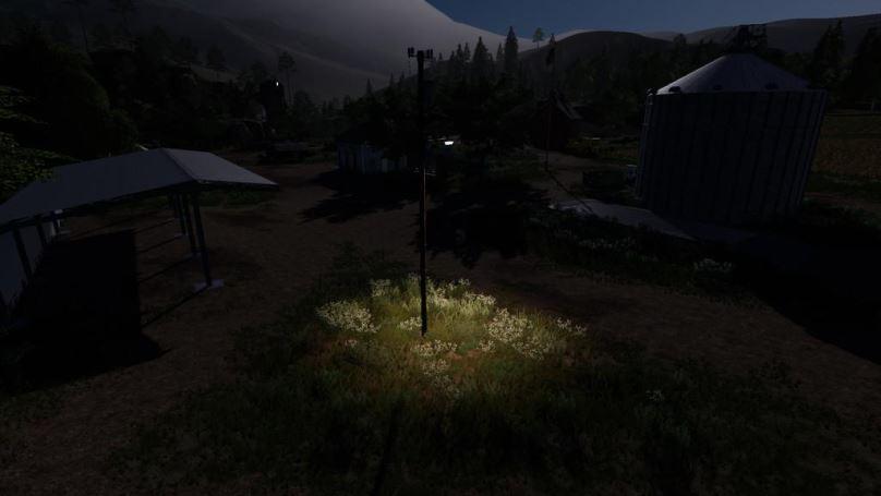 Мод Powerful Spotlights v 1.0 для Farming Simulator 2019