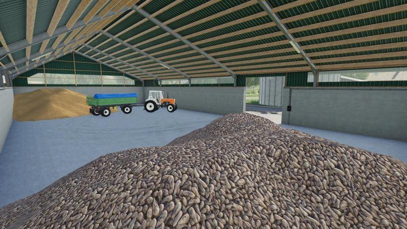 Мод Large Grain Storages v 1.0 для Farming Simulator 2019