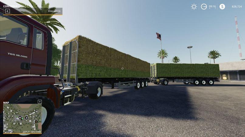 Мод Fliegl flatbed squarebale autoload v 1.0.0.3 для Farming Simulator 2019