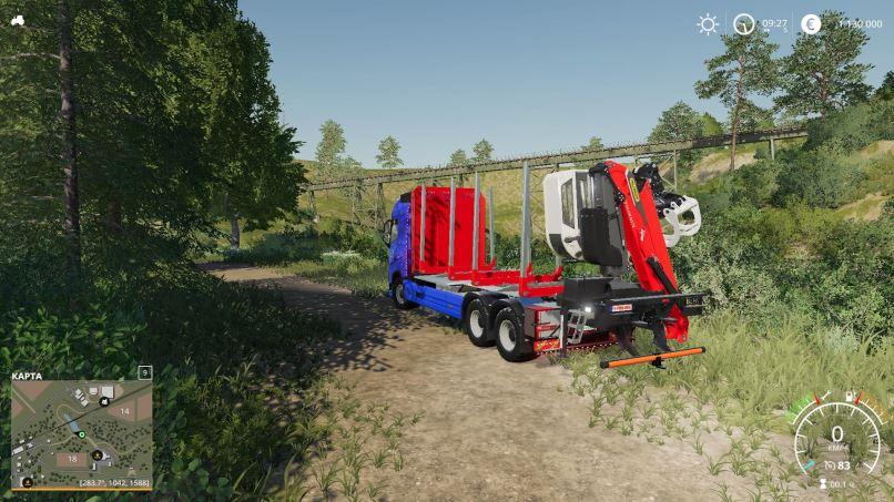 Мод Volvo FH16 750 Groenbedrijf v1.0 для Farming Simulator 2019