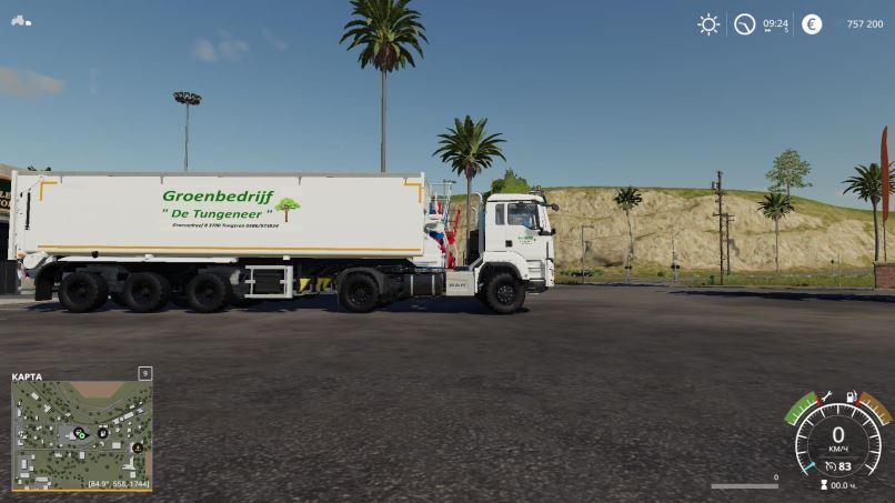 Мод 3 Axle trailer Groenbedrijf v 1.1 для Farming Simulator 2019