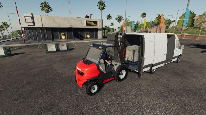 Мод Mercedes benz Sprinter LW v 1.2 для Farming Simulator 2019