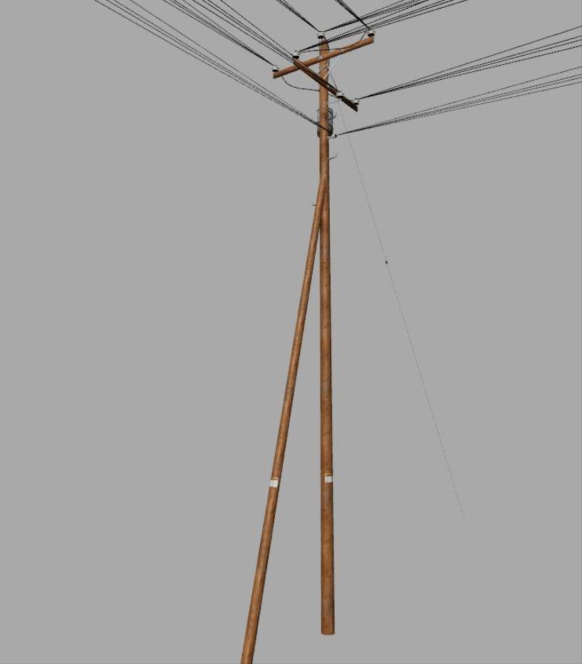 Мод Telegraph Pole Kit for map makers v 1.0 для Farming Simulator 2019