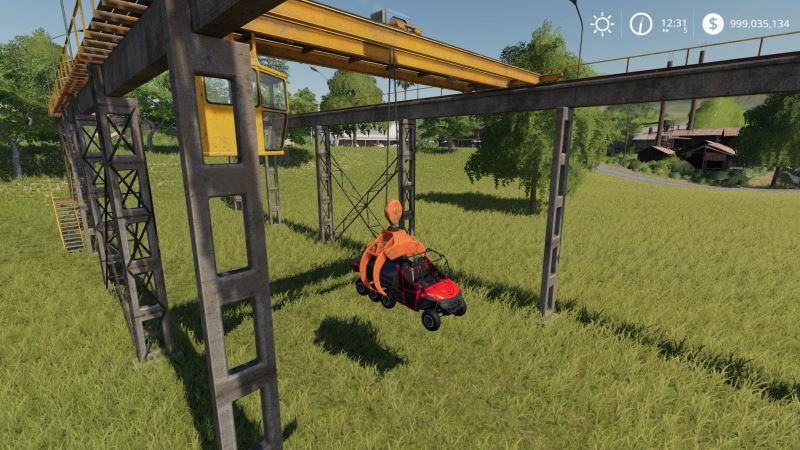 Мод Working Rail Crane v 1.2 Fixed для Farming Simulator 2019
