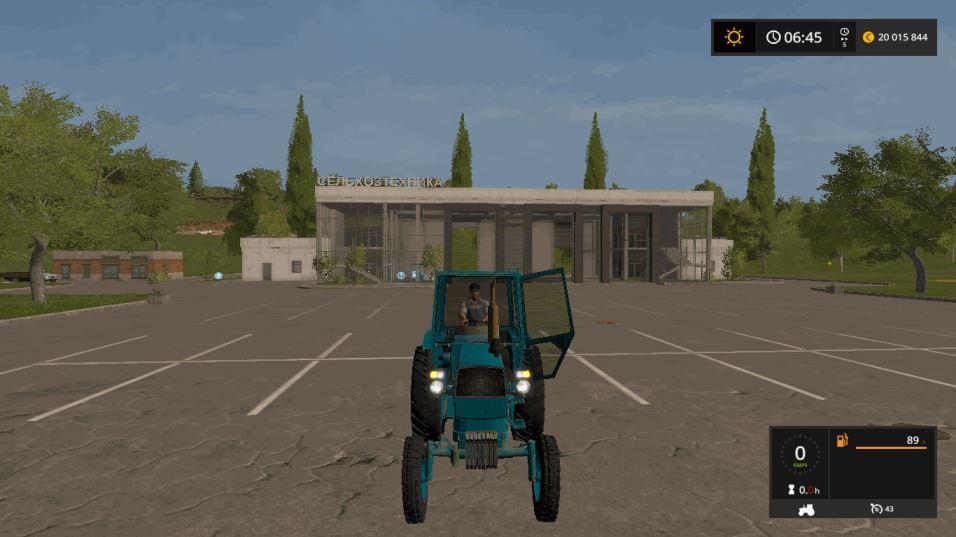 Мод Трактор ЮМЗ-6КЛ v 1.3 для Farming Simulator 2017