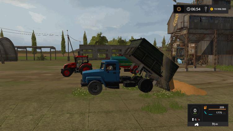 Мод Грузовик ГАЗ 3307 v 1.0 для Farming Simulator 2017
