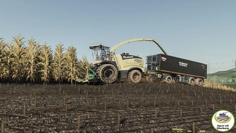 Мод Krone BigX 1180 By Agrar eG Oberberg v 1.2 для Farming Simulator 2019