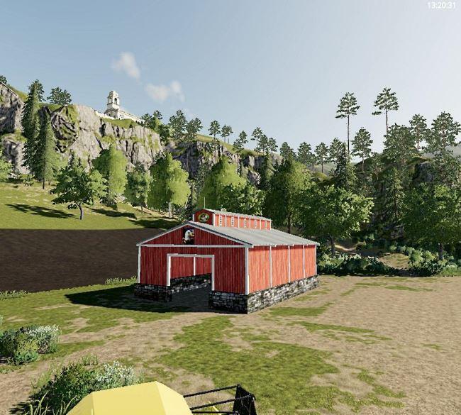 Мод Small open ended storage barn v 1.0 для Farming Simulator 2019