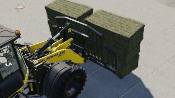 Мод Bale fork for wheel loader v 1.0 для Farming Simulator 2019