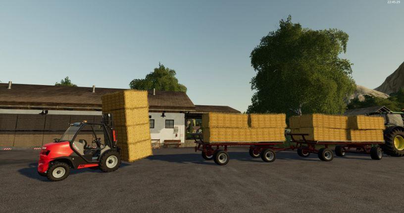 Мод Krone Emsland Ballen Wagon v 1.0 для Farming Simulator 2019