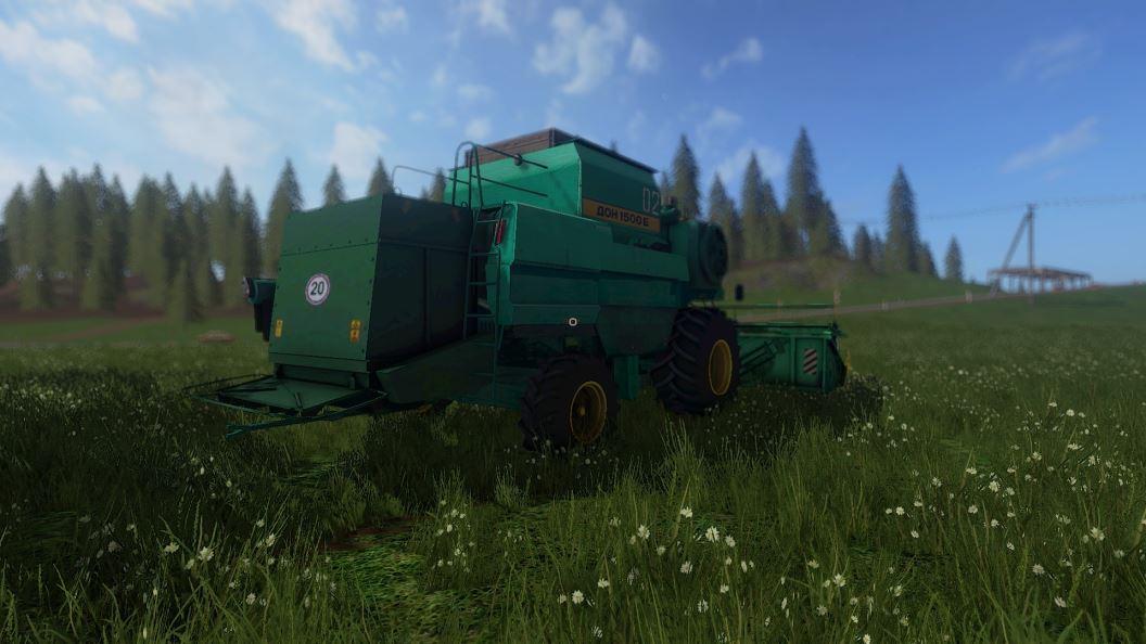 Мод Дон-1500Б v 2.0 (02.01.19) для Farming Simulator 2017