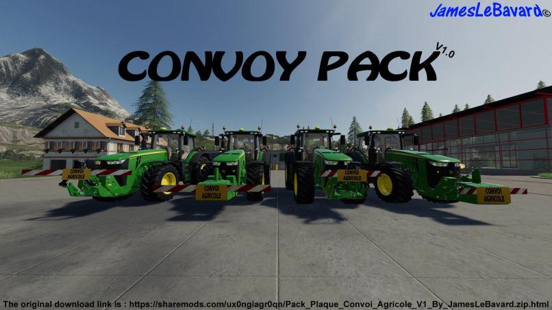 Мод Pack Plates Agricol Convoy v 1.0 для Farming Simulator 2019