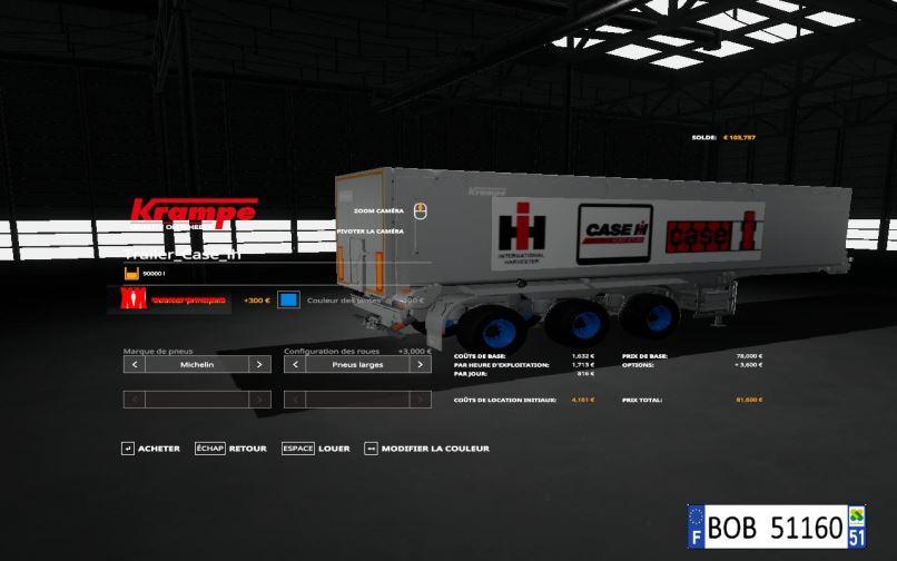 Мод Trailer Case IH v 1.0.0.2 для Farming Simulator 2019