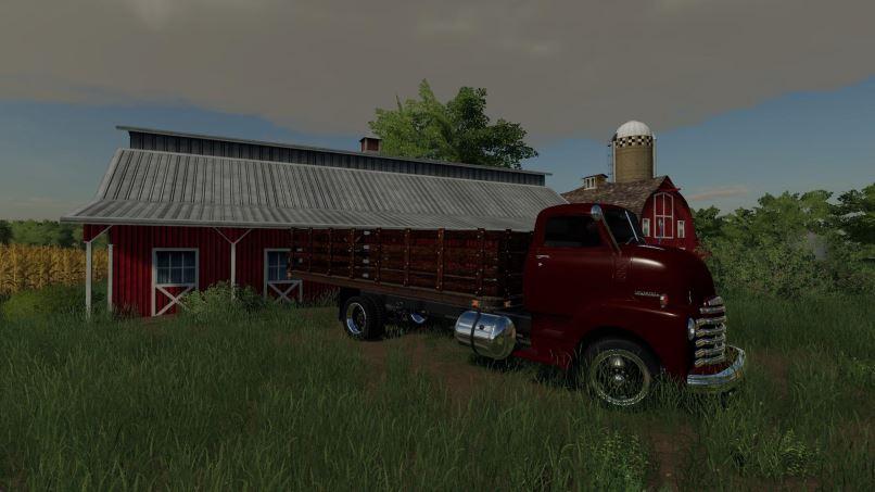 Мод 1948 Chevy COE flat deck v 1.0 для Farming Simulator 2019