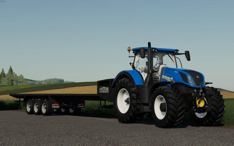 Мод Larrington 42 Foot Bale Trailer v 1.0 для Farming Simulator 2019