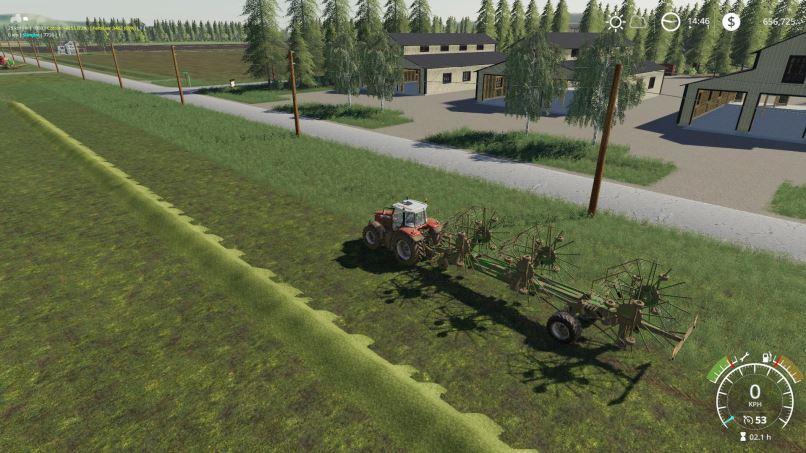 Мод Krone Swadro 2000 v 2.0 для Farming Simulator 2019