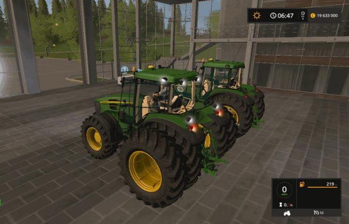 Мод John Deere 7720 Animation Parts v 1.1 для Farming Simulator 2017