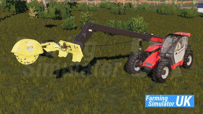 Мод Stump Grinder with Telehandler Mount v 1.0 для Farming Simulator 2019