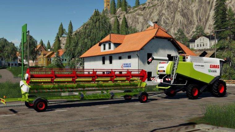 Мод Пак Claas Lexion 580 и Vario 900 v 1.0 для Farming Simulator 2019