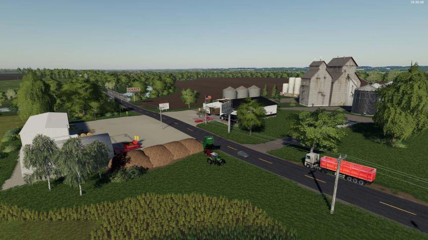 Мод Карта Clover Creek v 1.0.0.1 для Farming Simulator 2019
