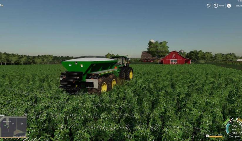 Мод John Deere DN345 v 2.0 для Farming Simulator 2019