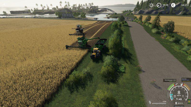 Мод Карта Flusstal XXL Edit v 2.0.0.1 для Farming Simulator 2019