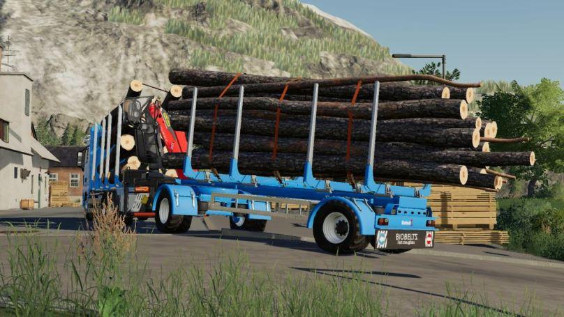 Мод Biobeltz Turntable Timbertrailer TTLT 500 v 1.0 для Farming Simulator 2019
