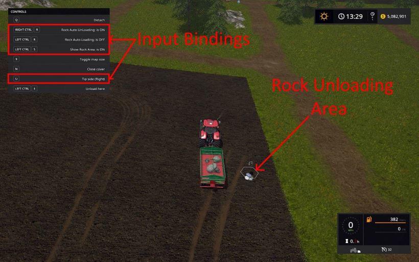Мод Скрипт Rock Spawn v 1.0 для Farming Simulator 2017