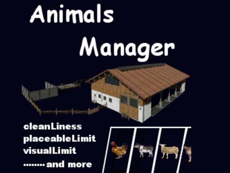 Мод Animals Manager v 0.4 Beta для Farming Simulator 2019