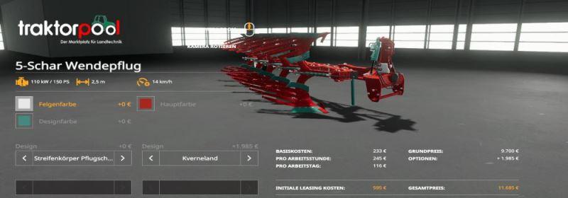 Мод 5-Schar Wendepflug-Pack v 1.0 для Farming Simulator 2019