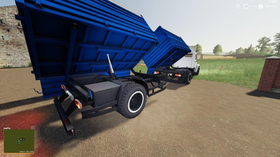 Мод ГАЗ-35071 и Саз-83173 v 1.1 для Farming Simulator 2019