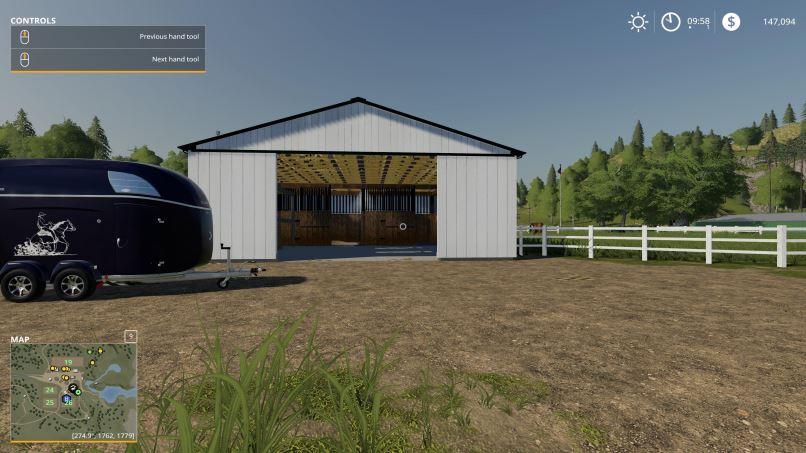 Мод Small American Stable v 1.1 для Farming Simulator 2019