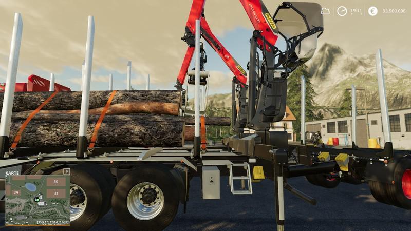 Мод MAN HolzL kw MP v 1.3.0 для Farming Simulator 2019