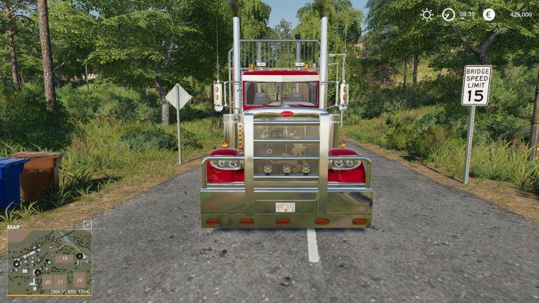Мод Peterbilt log truck v 1.0 для Farming Simulator 2019