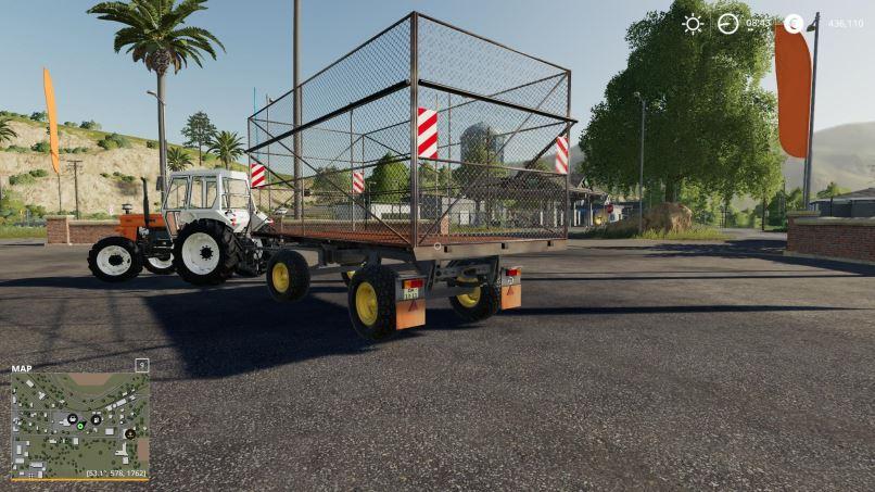 Мод HW-80 Bale Trailer v 1.0 для Farming Simulator 2019