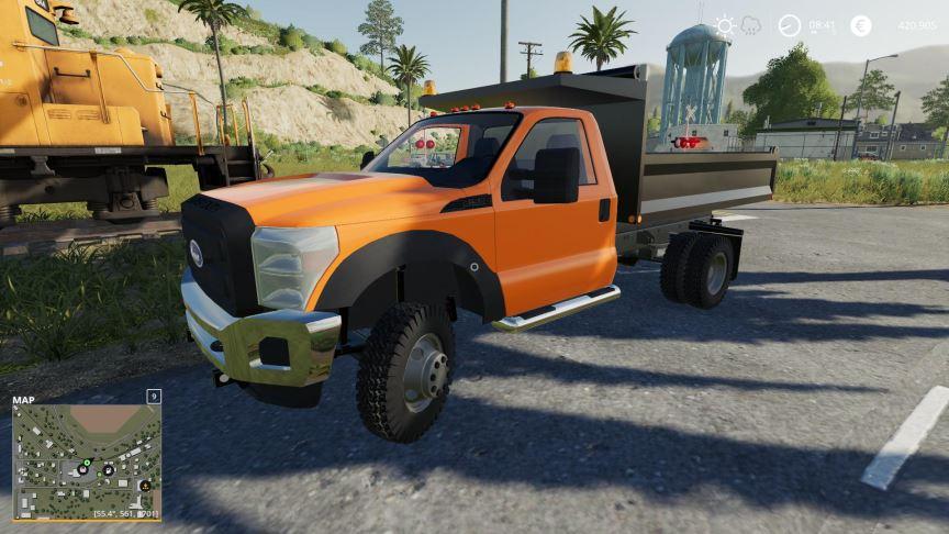 Мод F550 Dump Truck with Cat IDK v 1.1 для Farming Simulator 2019