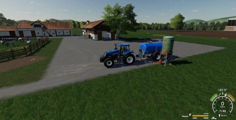 Мод Zunhammer milk and water barrel v 1.1 для Farming Simulator 2019