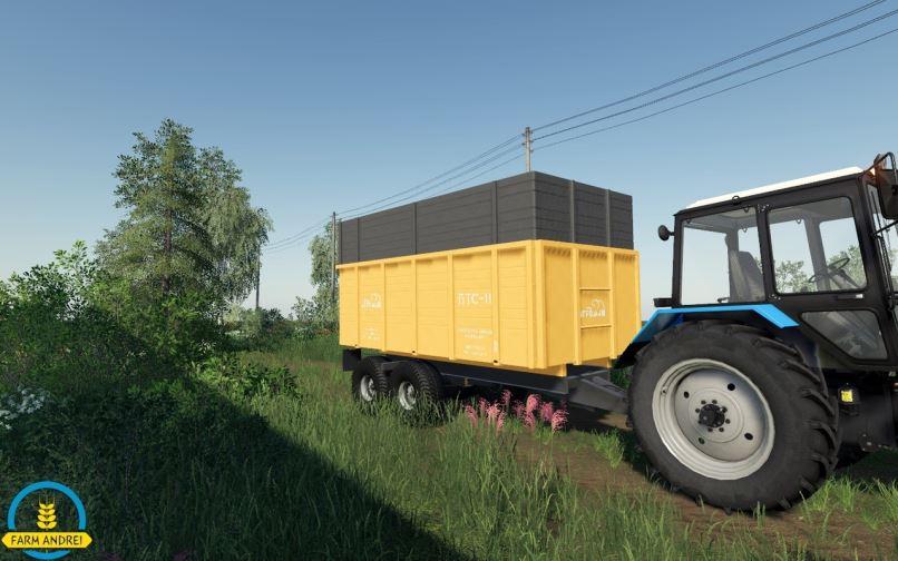 Мод Прицеп ПТС-11 v 1.0 для Farming Simulator 2019